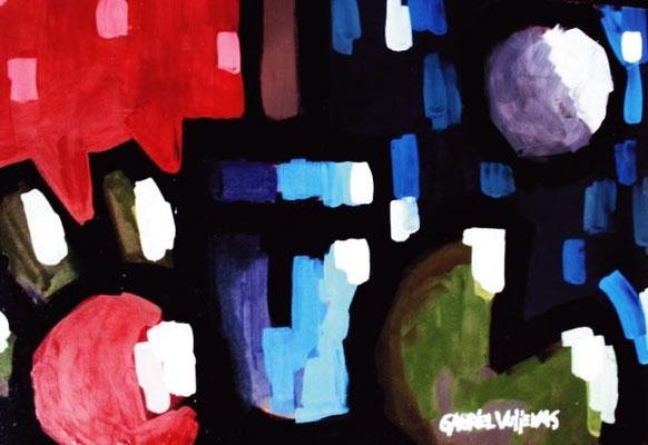 """Titre """"Divisíon, Transporte y Marcha"""" (2014) / 70 cm x 50 cm / Peinture à l'huile sur panneau en bois / Prix: 4800€"""