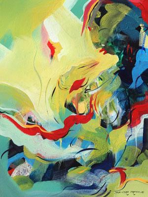 """Titre """"Grace N°5"""" (2015) / 61 cm x 46 cm / Peinture à l'acrylique sur toile / Prix: 1700€"""