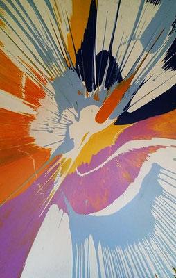"""""""Duck"""" (2015) / 150 cm x 100 cm / Acrylique sur toile / 4600 €"""
