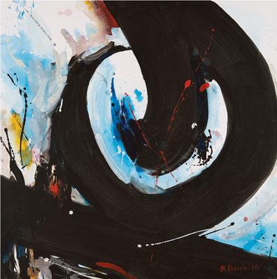 """Titre """"Part of Sleep N°5"""" (2010) / 100 cm x 100 cm / Peinture à l'acrylique sur toile / Prix: 6900€"""
