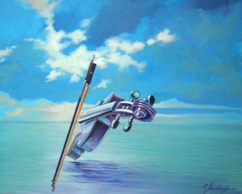 """Titre """"Musica en calma"""" (2010) / 81 cm x 65 cm / Peinture à l'acrylique sur toile / Prix: 5000€"""
