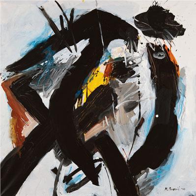 """Titre """"Part of Sleep N°6"""" (2011) / 100 cm x 100 cm / Peinture à l'acrylique sur toile / Prix: 6900€"""