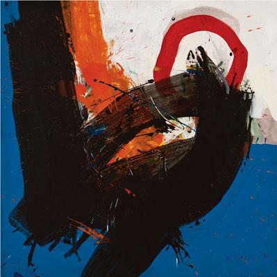 """Titre """"Part of Sleep N°9"""" (2011) / 100 cm x 100 cm / Peinture à l'acrylique sur toile / Prix: 6900€"""