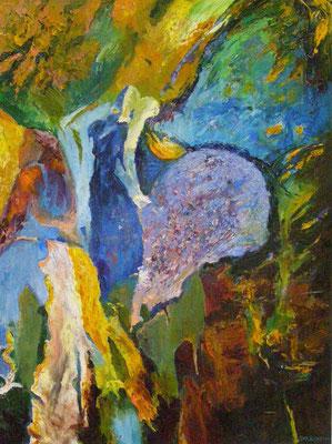 """Titre """"Firebird"""" (2014) / 120 cm x 90 cm / Peinture à l'huile sur toile / Prix: 7600€"""