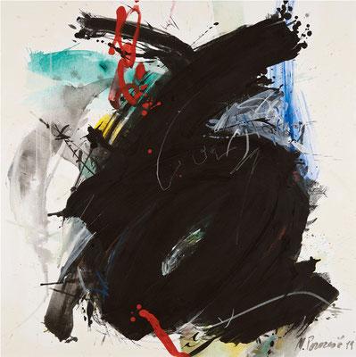 """Titre """"Part of Sleep N°8"""" (2010) / 100 cm x 100 cm / Peinture à l'acrylique sur toile / Prix: 6900€"""