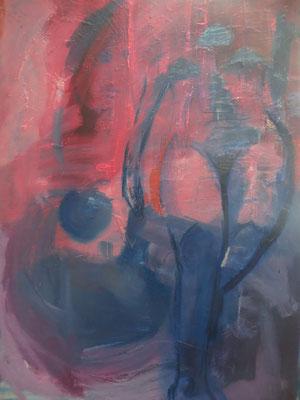 """Titre """"Camino de un recuerdo"""" (2014) / 80 cm x 60 cm / Peinture à l'huile sur toile / Prix: 2000€"""