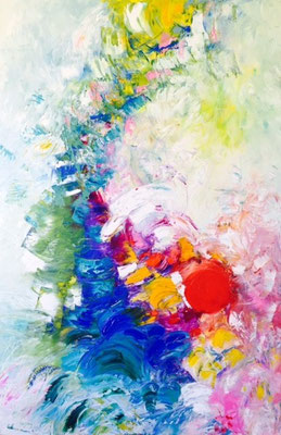 """Titre """"Excitement III"""" (2015) / 91 cm x 61 cm / Peinture à l'huile sur toile / Prix: 4700€"""