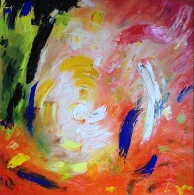"""Titre """"Working Through It"""" (2014) / 76 cm x 76 cm / Peinture à l'huile sur toile / Prix: 4900€"""