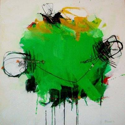 """Titre """"Part of Sleep N°14"""" (2013) / 100 cm x 100 cm / Peinture à l'acrylique sur toile / Prix: 6900€"""