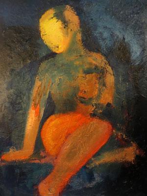 """Titre """"Solar"""" (2014) / 70 cm x 50 cm / Peinture à l'huile sur toile / Prix: 1600€"""