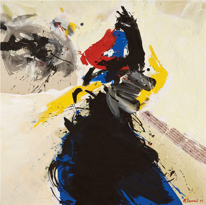 """Titre """"Part of Sleep N°10"""" (2011) / 100 cm x 100 cm / Peinture à l'acrylique sur toile / Prix: 6900€"""