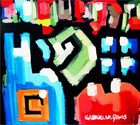 """Titre """"Un tiempo fue Cristina"""" (2014) / 70 cm x 70 cm / Peinture à l'huile sur panneau en bois / Prix: 5200€"""