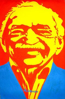 """Titre """"Gabo"""" (2014) / 35 cm x 23 cm / Peinture à l'acrylique sur toile / Prix: 1300€"""