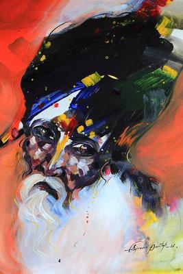 """""""Emotion N°3"""" (2016) / 46 cm x 33 cm / Acrylique sur papier / Prix : 950 €"""