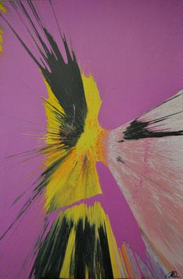 """""""Flight"""" (2015) / 150 cm x 100 cm / Acrylique sur toile / 4600 €"""