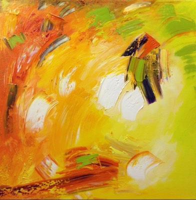 """Titre """"Joy"""" (2014) / 51 cm x 51 cm / Peinture à l'huile sur toile / Prix: 2800€"""