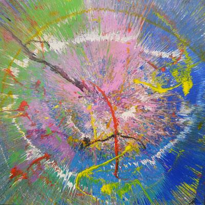 """""""Earth Day"""" (2015) / 180 cm x 180 cm / Acrylique sur toile / 9300 €"""