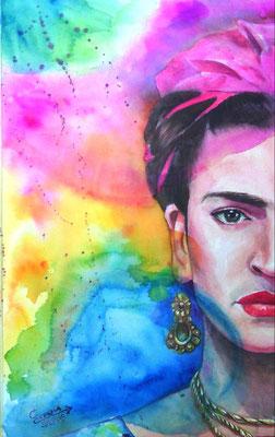 """""""Frida"""" (2015) / 52 cm x 35 cm / Aquarelle sur papier / Prix: 1200€"""