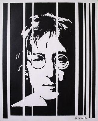 """Titre """"Lennon"""" (2006) / 81 cm x 65 cm / Peinture à l'acrylique sur toile / Prix: 2800€"""