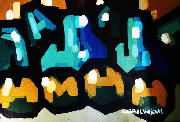 """Titre """"8 Manzanas de Monica"""" (2015) / 90 cm x 60 cm / Peinture à l'huile sur panneau en bois / Prix: 5800€"""