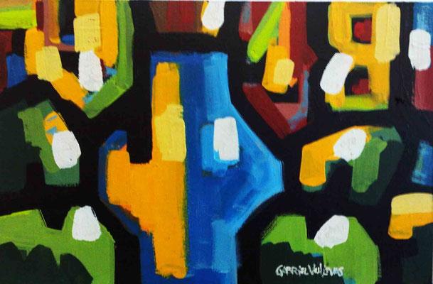 """Titre """"Melancia da Lua"""" (2015) / 90 cm x 60 cm / Peinture à l'huile sur panneau en bois / Prix: 5800€"""