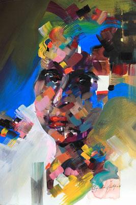 """""""Emotion N°2"""" (2016) / 46 cm x 33 cm / Acrylique sur papier / Prix : 950 €"""