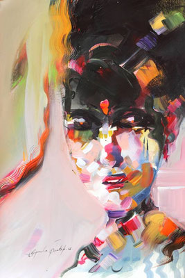 """""""Emotion N°4"""" (2016) / 46 cm x 33 cm / Acrylique sur papier / Prix : 950 €"""