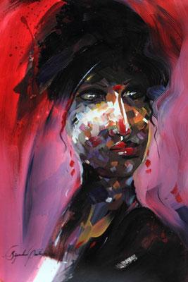 """""""Emotion N°7"""" (2016) / 46 cm x 33 cm / Acrylique sur papier / Prix : 950 €"""