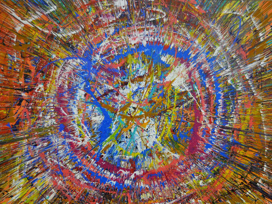 """""""Big Bang"""" (2015) / 230 cm x 180 cm / Acrylique sur toile / 10 900 €"""