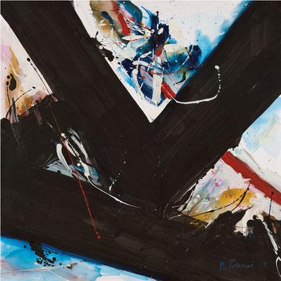"""Titre """"Part of Sleep N°3"""" (2011) / 100 cm x 100 cm / Peinture à l'acrylique sur toile / Prix: 6900€"""