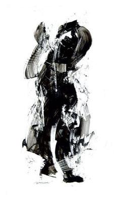 """""""Ink 14"""" (2007) / 36 cm x 20 cm / Encre sur papier / Prix : 3900 €"""