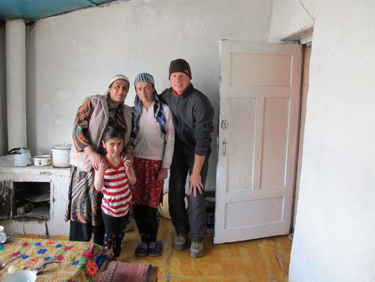 über Nacht bei einer Familie in Alichur