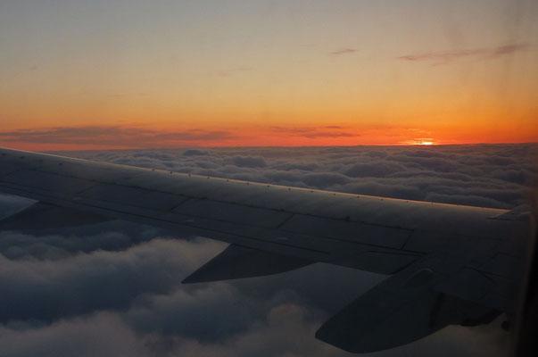 stundenlanger Sonnenuntergang...