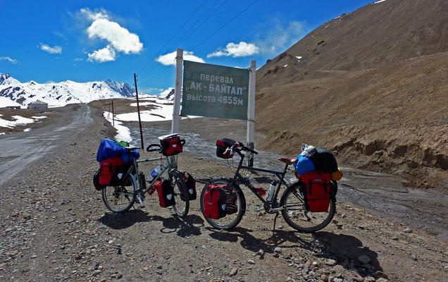 kurz vor dem Ak-Baital-Pass, 4655m