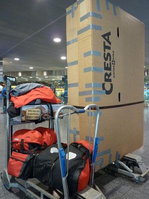viel Gepäck...