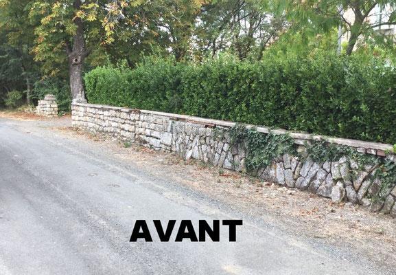 MURET DE CLÔTURE A PEAULT 85320