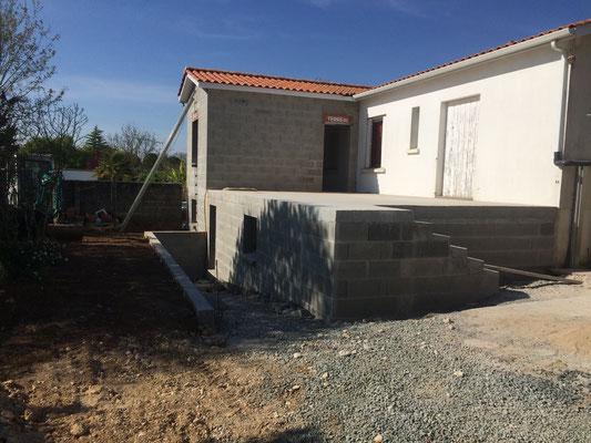Création Terrasse sur sou-sol à Luçon