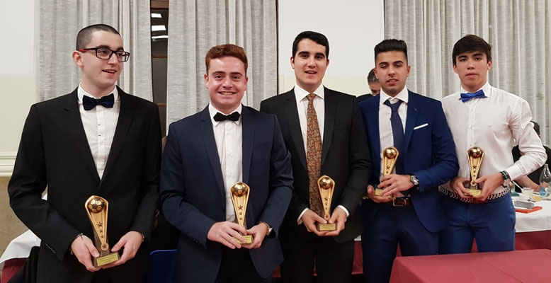 Equipo ideal 2017/2018: Arnau Beltran (escogido también mejor jugador), Javier Prieto, Pablo Rodríguez, Àlex Segura y Guillem Vilches