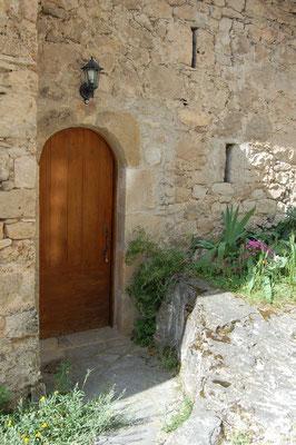 La porte d'entrée de la chambre d'hôte la Casalissa