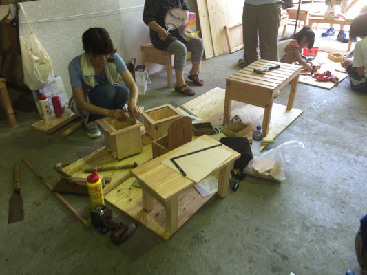 夏休み木工教室㈱岡田工務店石川県津幡町