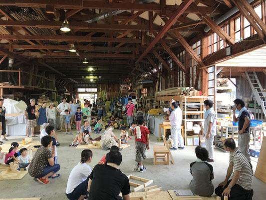 夏休み親子木工教室 石川県