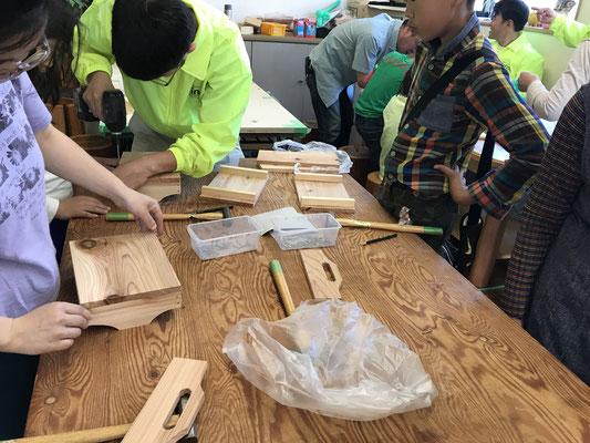 石川県津幡町イベントミニ木工教室