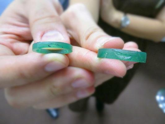 指輪の原型ワックス