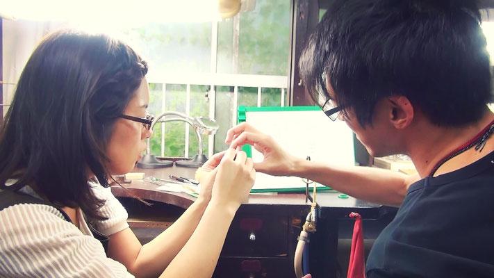 結婚指輪の手作り制作