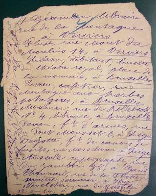 la liste de Paule Minck, document 1 - source A.D. Saône-et-Loire
