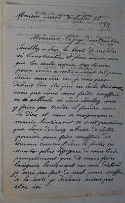 Lettre de Martin au juge Le Chevalier - début 1885 - source : A.D. de Macon