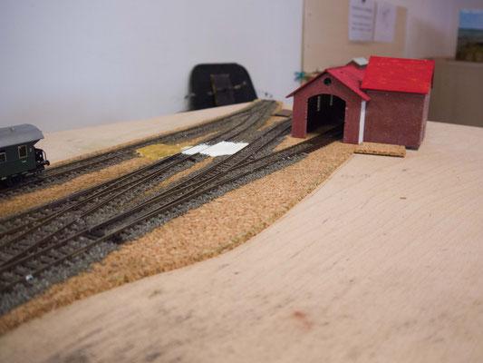 Diese Gleise werden in Zukunft an die große Anlage angeschlossen.