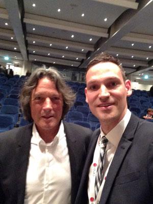 Dr. Hopp mit Dr. Müller-Wohlfahrt (Mannschaftsarzt Fußball-Nationalmannschaft), VSOU-Kongress 2014