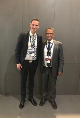 FIFA Kongress Barcelona 2018, Dr. Hopp mit Prof. Per Hölmich, Weltweit anerkannter Experte für Leistenschmerz im Sport seit nunmehr 30 Jahren...!