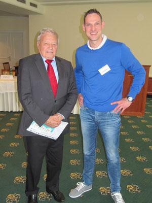 Dr. Hopp mit Prof. Dr. Heinrich Hess, ehem. Mannschaftsarzt Fußball-Nationalmannschaft 1974-1996